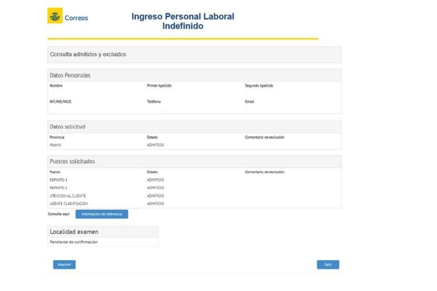 ingreso personal laboral indefinido correos